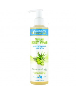 Grahams Natural Body Wash With Cucumber & Aloe Vera 250ml